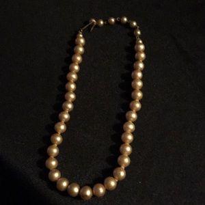 "14"" Gold Pearl Choker"